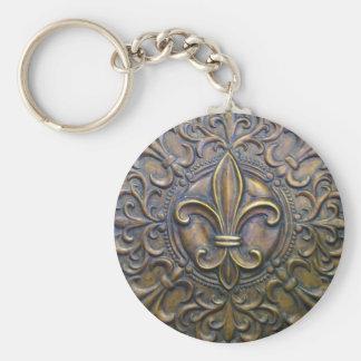Bronze Fleur D' Lis Keychain