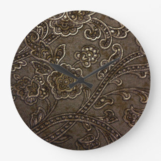 Bronze Floral Relief Large Clock