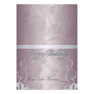 Bronze Foil Silver Ribbon Holiday Table Placecard Large Business Cards (Pack Of 100)