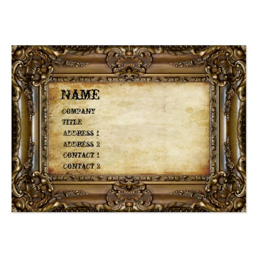 Bronze frame business card zazzle for Business card picture frame