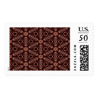 Bronze geometrical pattern postage