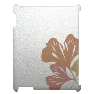 Bronze Ginkgo Leaves on Silver Effect Pattern Case For The iPad 2 3 4