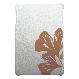 Bronze Ginkgo Leaves on Silver Effect Pattern Cover For The iPad Mini