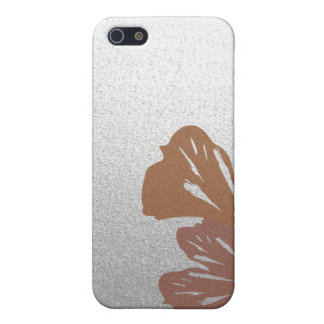 Bronze Ginkgo Leaves on Silver Effect Pattern iPhone SE/5/5s Cover