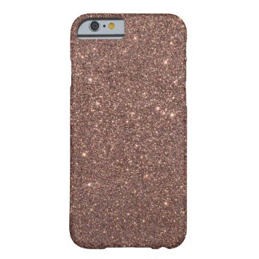 Beach Themed Bronze Glitter Sparkles Barely There iPhone 6 Case