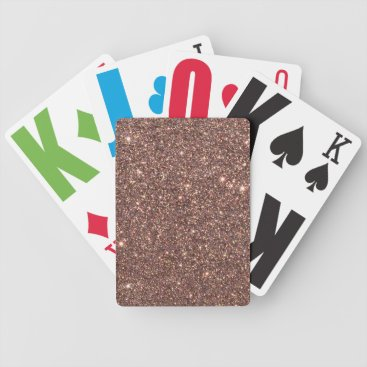 Beach Themed Bronze Glitter Sparkles Bicycle Playing Cards
