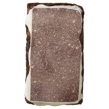 Beach Themed Bronze Glitter Sparkles Brownie