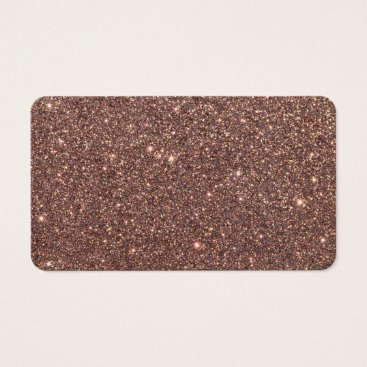 Beach Themed Bronze Glitter Sparkles Business Card