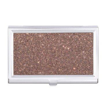 Beach Themed Bronze Glitter Sparkles Business Card Case