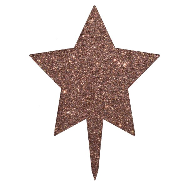 Bronze Glitter Sparkles Cake Topper