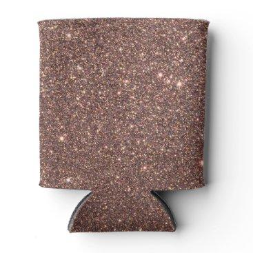 Beach Themed Bronze Glitter Sparkles Can Cooler