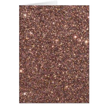 Beach Themed Bronze Glitter Sparkles Card