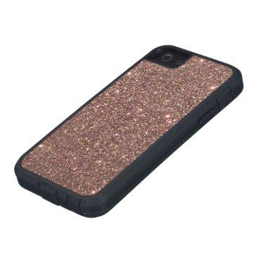 Beach Themed Bronze Glitter Sparkles Case For iPhone SE/5/5s