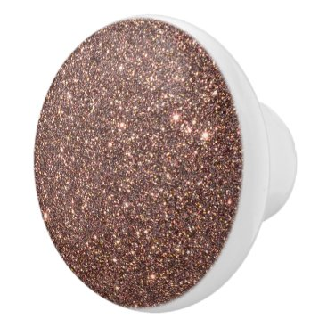Beach Themed Bronze Glitter Sparkles Ceramic Knob