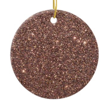 Beach Themed Bronze Glitter Sparkles Ceramic Ornament
