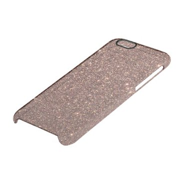 Beach Themed Bronze Glitter Sparkles Clear iPhone 6/6S Case