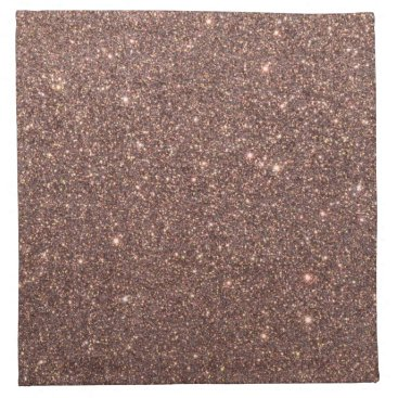 Beach Themed Bronze Glitter Sparkles Cloth Napkin