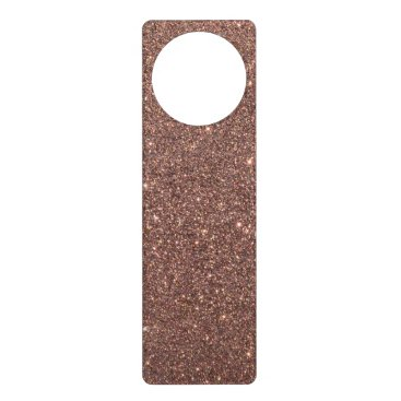 Beach Themed Bronze Glitter Sparkles Door Hanger