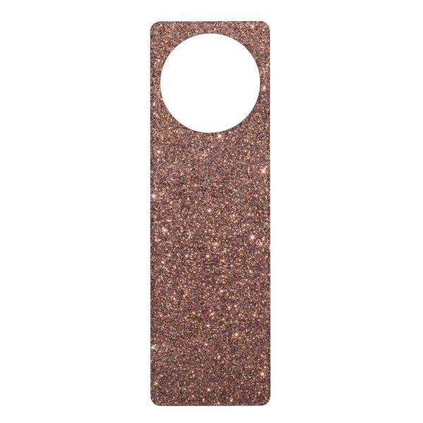 Bronze Glitter Sparkles Door Hanger