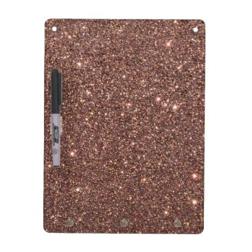 Beach Themed Bronze Glitter Sparkles Dry-Erase Board