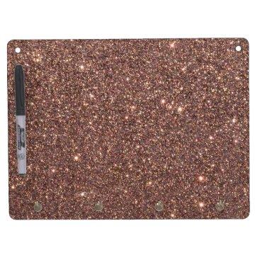 Beach Themed Bronze Glitter Sparkles Dry Erase Board With Keychain Holder