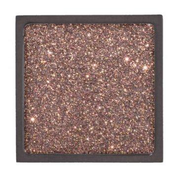 Beach Themed Bronze Glitter Sparkles Gift Box