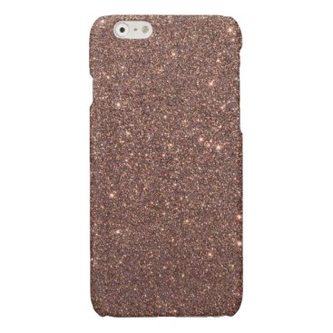 Beach Themed Bronze Glitter Sparkles Glossy iPhone 6 Case
