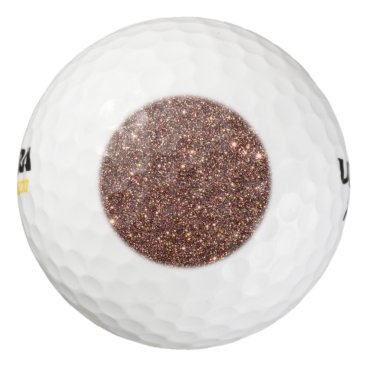 Beach Themed Bronze Glitter Sparkles Golf Balls