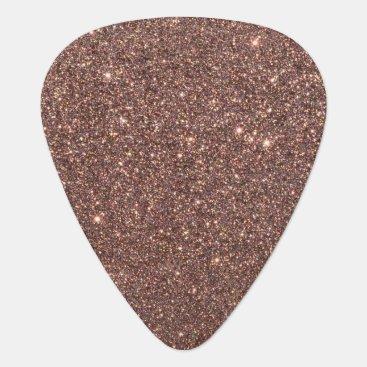 Beach Themed Bronze Glitter Sparkles Guitar Pick