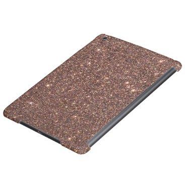 Beach Themed Bronze Glitter Sparkles iPad Air Covers