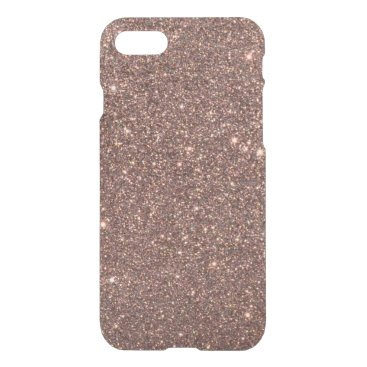 Valentines Themed Bronze Glitter Sparkles iPhone 8/7 Case