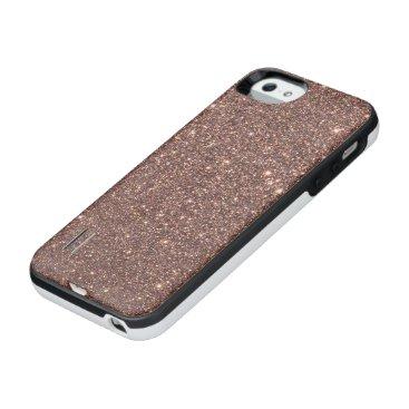 Beach Themed Bronze Glitter Sparkles iPhone SE/5/5s Battery Case