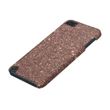 Beach Themed Bronze Glitter Sparkles iPod Touch (5th Generation) Cover
