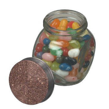 Beach Themed Bronze Glitter Sparkles Jelly Belly Candy Jars