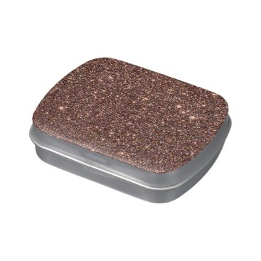 Beach Themed Bronze Glitter Sparkles Jelly Belly Tin