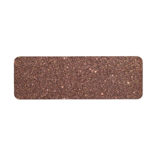 Bronze Glitter Sparkles Label