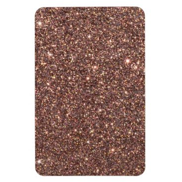 Beach Themed Bronze Glitter Sparkles Magnet