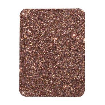 Beach Themed Bronze Glitter Sparkles Magnet