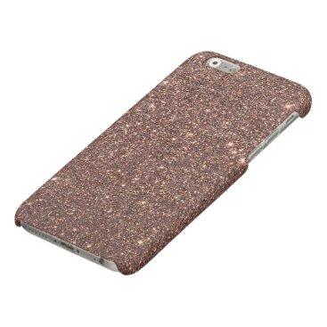 Beach Themed Bronze Glitter Sparkles Matte iPhone 6 Case