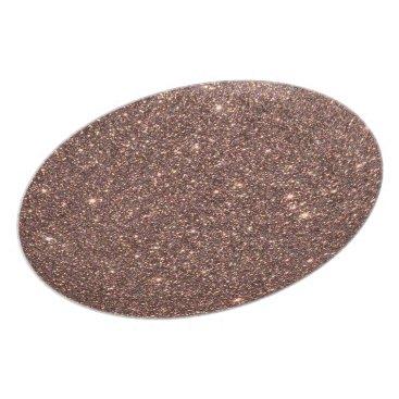 Beach Themed Bronze Glitter Sparkles Melamine Plate