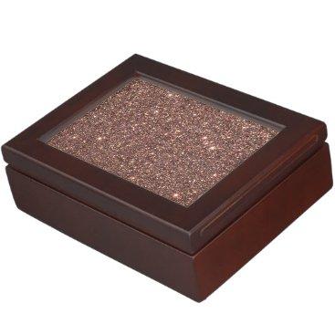 Beach Themed Bronze Glitter Sparkles Memory Box