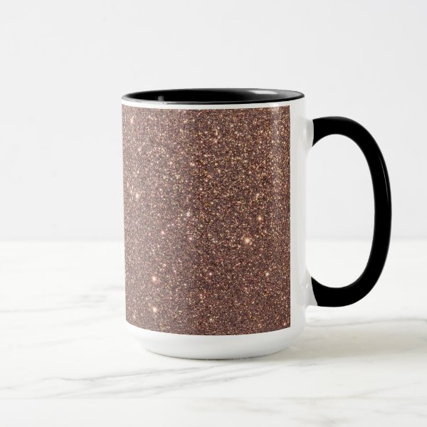 Bronze Glitter Sparkles Mug