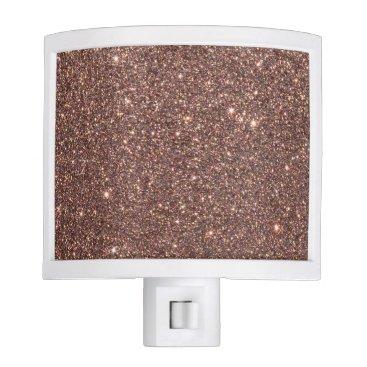 Beach Themed Bronze Glitter Sparkles Night Light