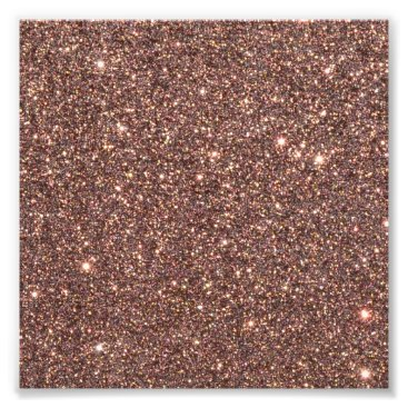 Beach Themed Bronze Glitter Sparkles Photo Print