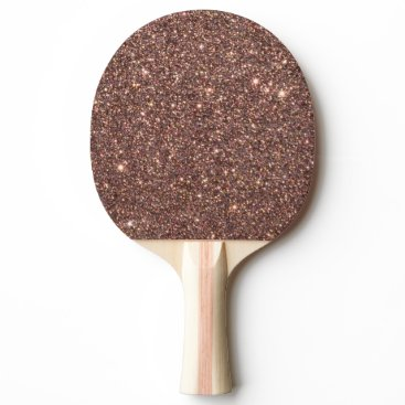 Beach Themed Bronze Glitter Sparkles Ping-Pong Paddle