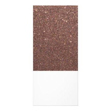 Beach Themed Bronze Glitter Sparkles Rack Card
