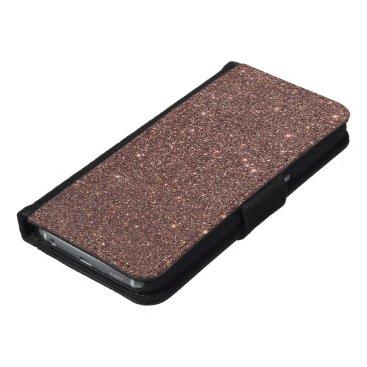 Beach Themed Bronze Glitter Sparkles Samsung Galaxy S6 Wallet Case