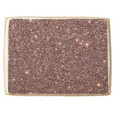Beach Themed Bronze Glitter Sparkles Shortbread Cookie