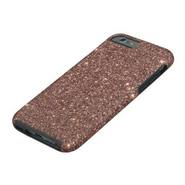 Beach Themed Bronze Glitter Sparkles Tough iPhone 6 Case