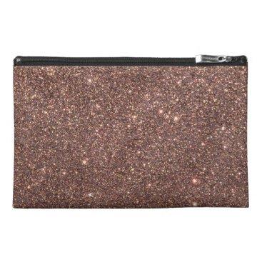 Beach Themed Bronze Glitter Sparkles Travel Accessories Bags